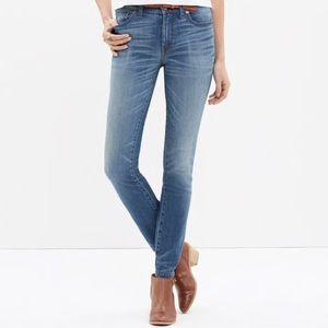Madewell High Rise Skinny Jeans in Thom Wash